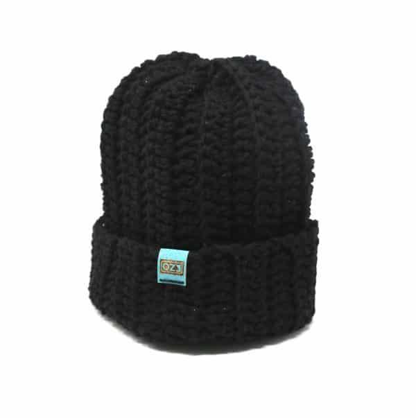 bonnet noir unisexe